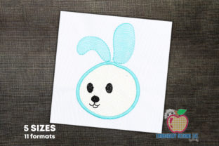 Cute Baby Bunny Appique for Kids Farm Animals Embroidery Design By embroiderydesigns101 1