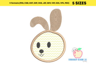 Cute Baby Bunny Appique for Kids Farm Animals Embroidery Design By embroiderydesigns101 2