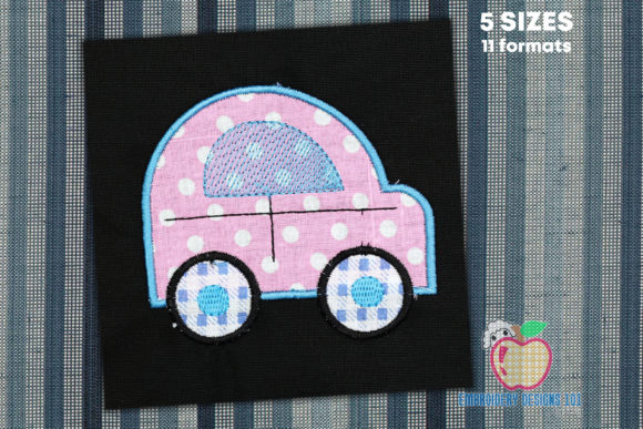 Cute Car Design Applique for Kids Boys & Girls Embroidery Design By embroiderydesigns101