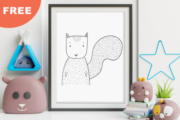 Print on Demand: Cute Little Squirrel Animal Clip Art Graphic Illustrations By Saydung89