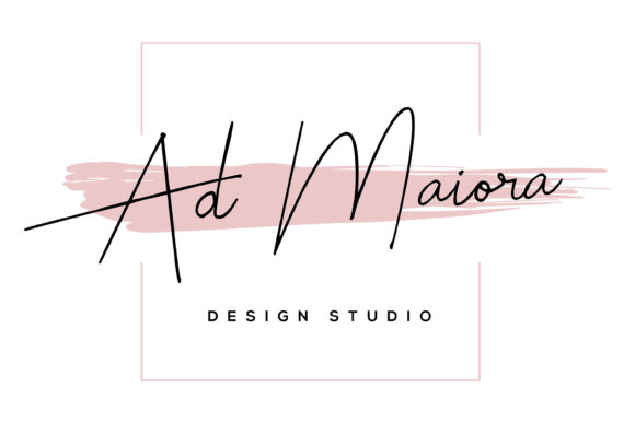 Print on Demand: Feminine Logo Design Premade Template Graphic Logos By AdMaioraDesign