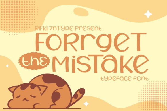 Print on Demand: Forget the Mistake Display Font By Rifki (7ntypes)