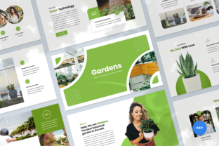 Gardening Keynote Template Graphic Presentation Templates By Graphue