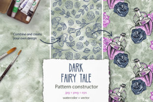 Gothic Pattern Constructor Graphic Patterns By NataliMyaStore