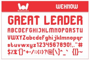 Print on Demand: Great Leader Display Font By weknow