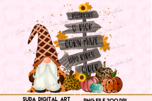 Print on Demand: Halloween Gnomes Sublimation Graphic Illustrations By Suda Digital Art