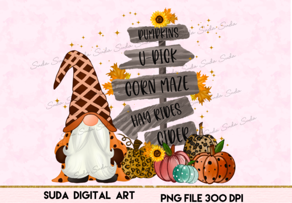 Print on Demand: Halloween Gnomes Sublimation Grafik Illustrationen von Suda Digital Art