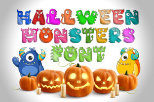 Print on Demand: Halloween Monsters Display Font By OWPictures