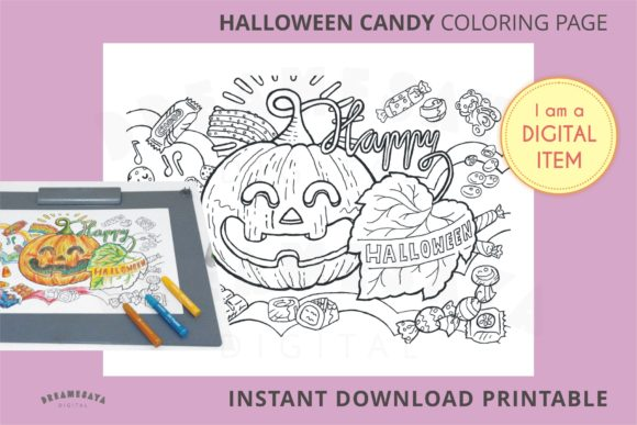 Halloween Coloring Page Jpg Download Graphic Coloring Pages & Books Kids By Dreamesaya
