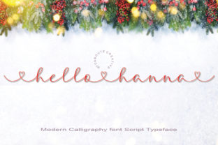 Print on Demand: Hello Hanna Script & Handwritten Font By Canoute Creative