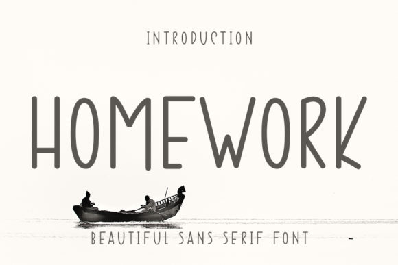 Print on Demand: Homework Sans Serif Font By ONE DESIGN