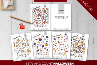 Print on Demand: I Spy and Count Halloween Games for Kids Graphic PreK By Printable Pixel Studio