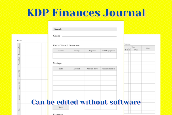 Print on Demand: KDP Finance Tracker Graphic KDP Interiors By Income Plum