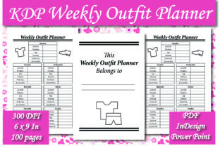 Print on Demand: KDP Weekly Outfit Planner Interior Graphic KDP Interiors By Ivana Prue