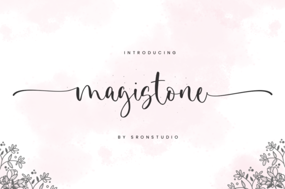 Print on Demand: Magistone Script & Handwritten Font By Sronstudio