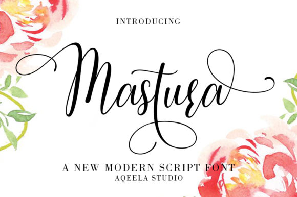 Print on Demand: Mastura Script & Handwritten Font By Aqeela Studio