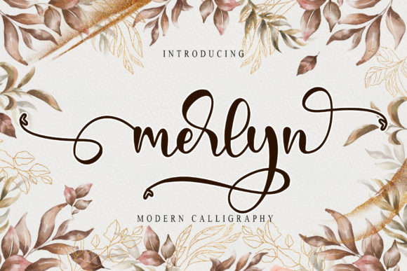 Print on Demand: Merlyn Script & Handwritten Font By thomasaradea