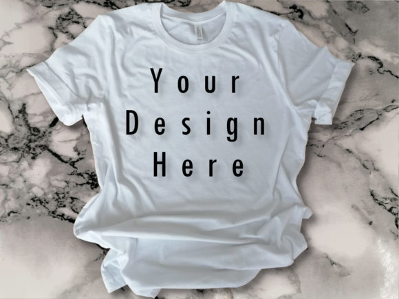 Mock Up White Bella Canvas T-shirt Graphic Product Mockups By ArtStudio