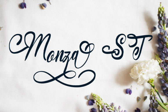 Print on Demand: Monza ST Script & Handwritten Font By setiyadissi