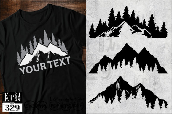 Mountain Wild Forest Svg Graphic Crafts By Krit-Studio329