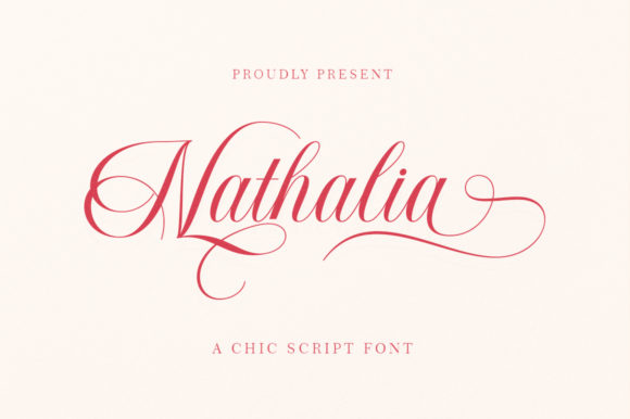 Print on Demand: Nathalia Script & Handwritten Font By Romie Creative