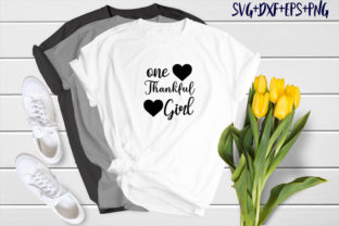 Print on Demand: One Thankful Girl Graphic Print Templates By SVG_Huge