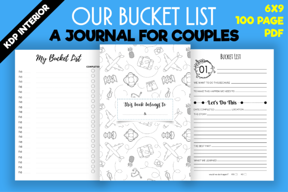 Print on Demand: Our Bucket List Journal  | Kdp Interior Graphic KDP Interiors By MK DESIGN