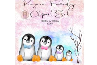 Penguin Family Clipart Graphic Illustrations By Marelia Designs 1