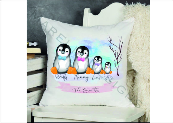 Penguin Family Clipart Graphic Download