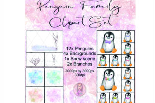 Penguin Family Clipart Graphic Illustrations By Marelia Designs 3
