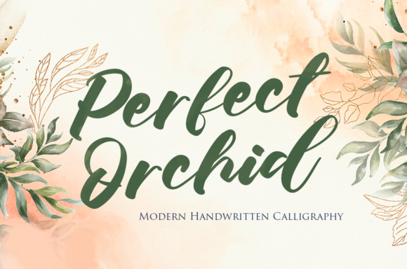 Print on Demand: Perfect Orchid Script & Handwritten Font By agniardii