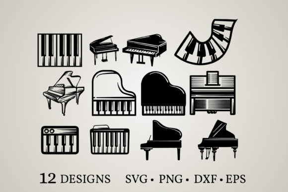 Piano Bundle Svg Graphic Print Templates By Euphoria Design