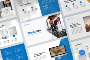 Plumbing Keynote Template Graphic Presentation Templates By Graphue