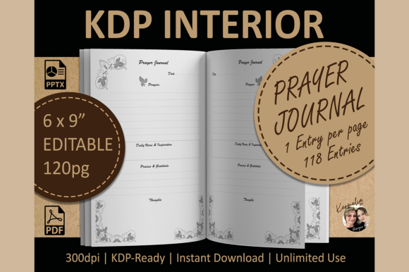 Prayer Journal KDP Graphic KDP Interiors By KermeliaDesigns