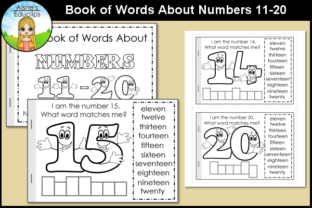 Print on Demand: Printable Book About Numbers 11-20 Graphic Teaching Materials By Aisne Educlips