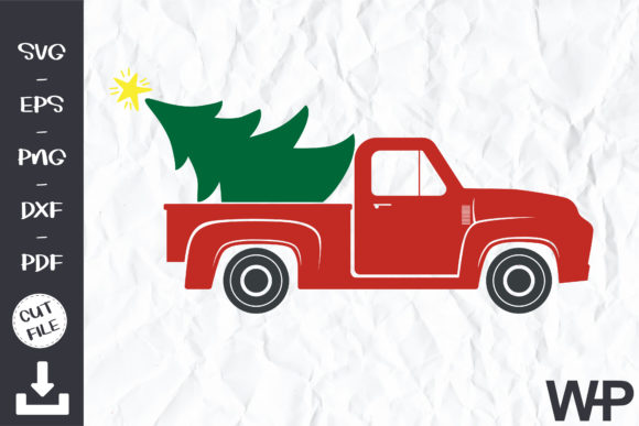 Red Truck Christmas Tree Svg Graphic Print Templates By wanchana365