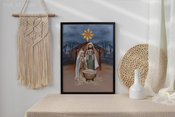 Religious Christmas Birth Jesus Nativity Graphic Preview