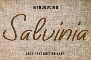 Print on Demand: Salvinia Script & Handwritten Font By Farz Studio