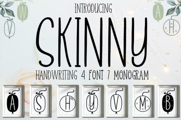 Print on Demand: Skinny Script & Handwritten Font By jehansyah251