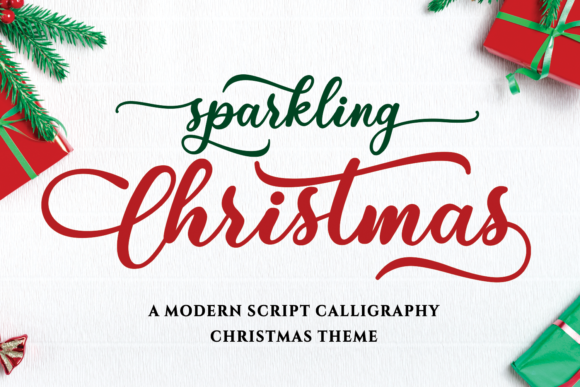 Print on Demand: Sparkling Christmas Script & Handwritten Font By Girinesia