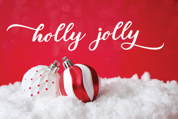 Sparkling Christmas Font Preview