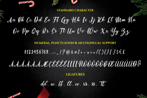Sparkling Christmas Font Downloadable Digital File