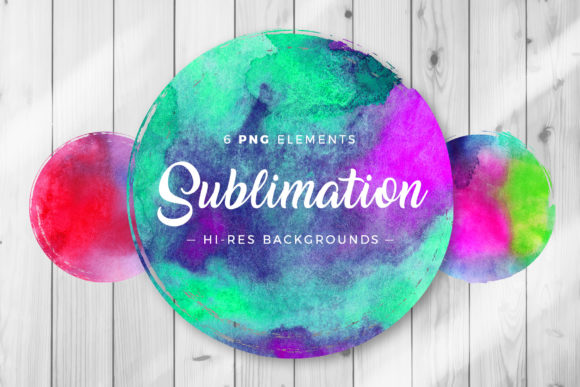 Print on Demand: Sublimation Watercolor Backgrounds Graphic Backgrounds By DTCreativeLab