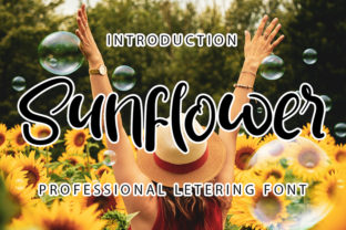 Print on Demand: Sunflower Script & Handwritten Font By ONE DESIGN