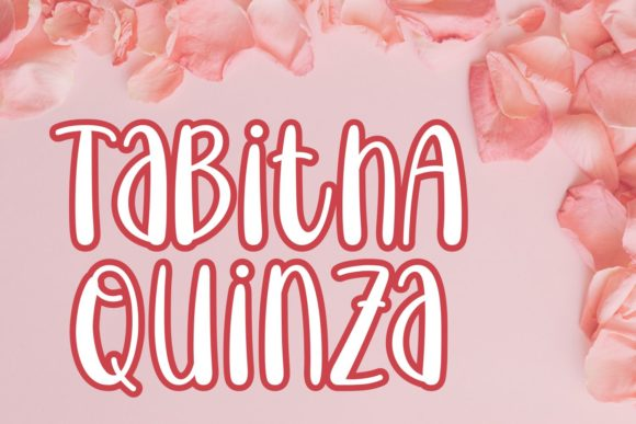 Print on Demand: Tabitha Quinza Decorative Font By Rifki (7ntypes)