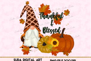 Print on Demand: Thankful & Blessed Thanksgiving Graphic Illustrations By Suda Digital Art