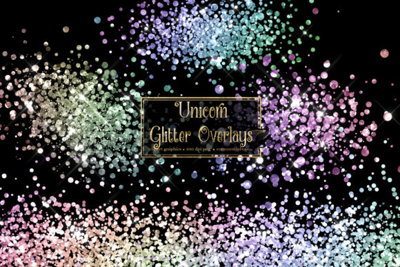 Print on Demand: Unicorn Glitter Overlays Graphic Illustrations By Digital Curio