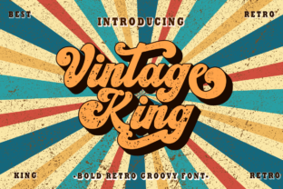 Print on Demand: Vintage King Display Font By putracetol