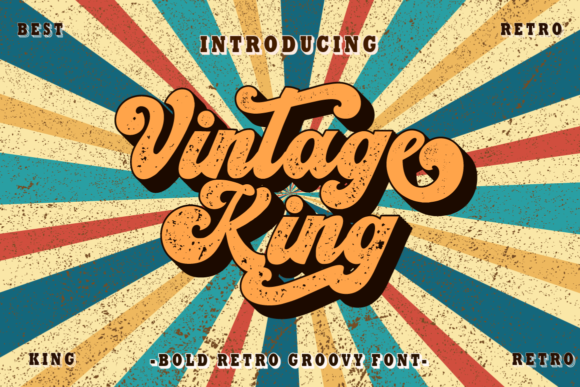 Print on Demand: Vintage King Display Fuente Por putracetol