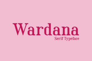 Print on Demand: Wardana Serif Font By Amru